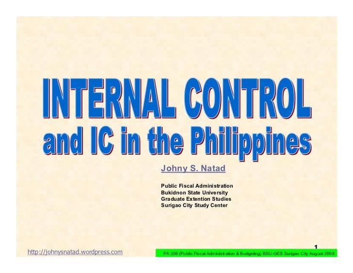 Johny S. Natad                                    Public Fiscal Administration                                    Bukidnon...