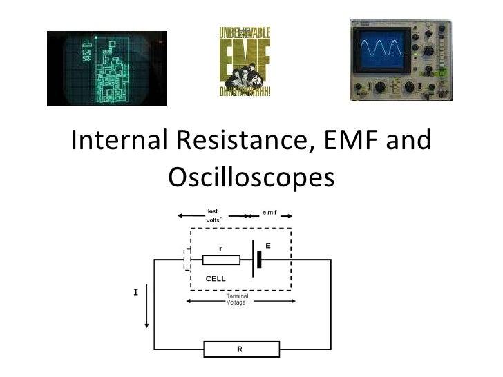 Internal Resistance, EMF and Oscilloscopes