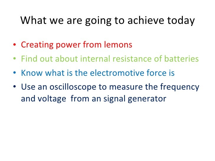 how to find emf and internal resistance of a cell