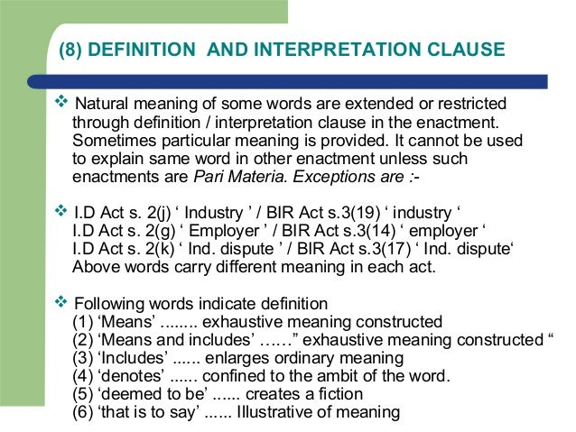 aids to interpretation Aids in interpretation of statutes internal aids every internal part of the statute is an internal aid in interpretation of statutes external aids  it will be useful, in the.