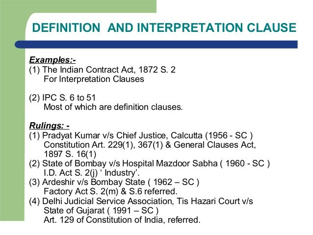 aids to interpretation Intrinsic aids to interpretation are found within the act itself the judge may use other parts of the act to understand the meaning of the word or phrase.