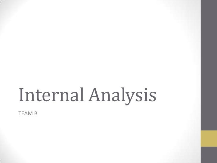 Internal Analysis<br />TEAM B<br />