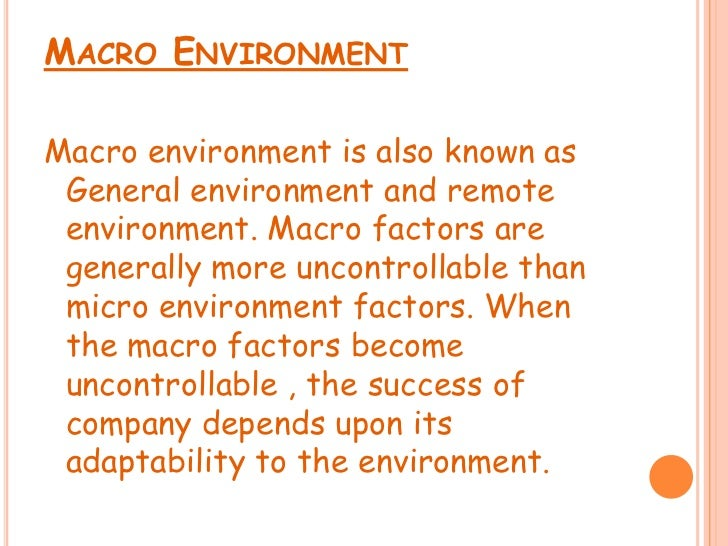 macro and micro environmental analysis of