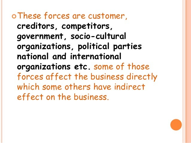 """business environment 3 essay Business environment refers """"to a set of political, economic, social, technological, environmental and legal (pestel) forces that are largely outside the control and influence of a business and that can potentially have both a positive and negative impact on the business"""" (varian,2003,p 4."""