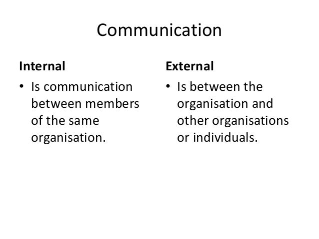 internal and external communication on bp