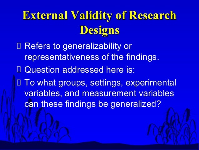 Internal and External Validity - Powering Silicon Valley