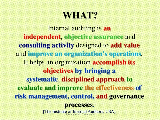 internal auditing Description deliver increased value by embedding quality into internal audit activities internal audit quality: developing a quality assurance and improvement program is a comprehensive and authoritative guide to better practice internal auditing.