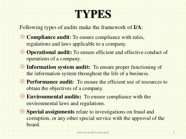 special assignments internal audit