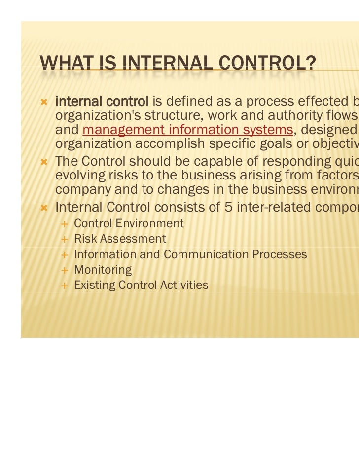 Internal accounting controls jomonacom essay