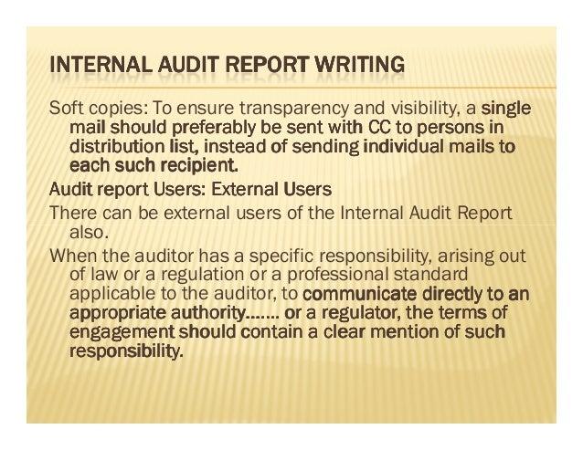 writing audit findings