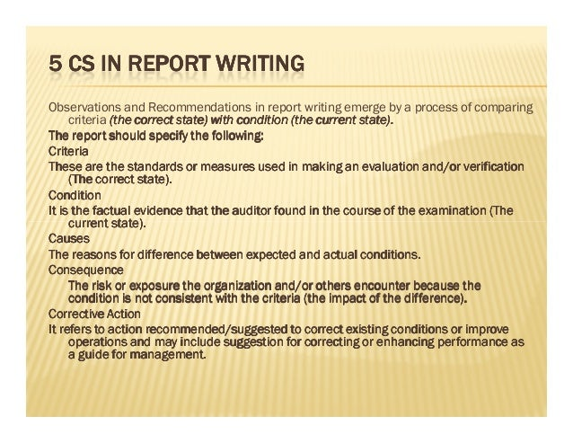 internal audit report writing Have a high quality audit report join this webinar and learn how to write a fine audit report.