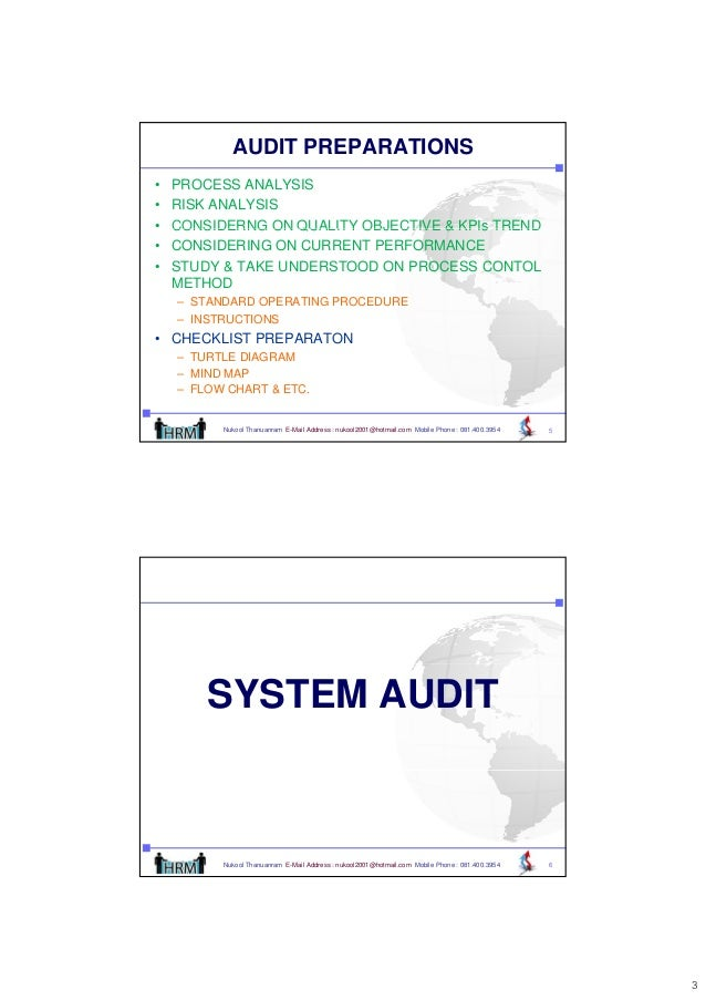 Internal audits for ISO/TS 16949