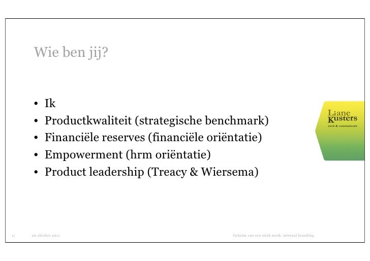 Wie ben jij?      •    Ik      •    Productkwaliteit (strategische benchmark)      •    Financiële reserves (financiële or...