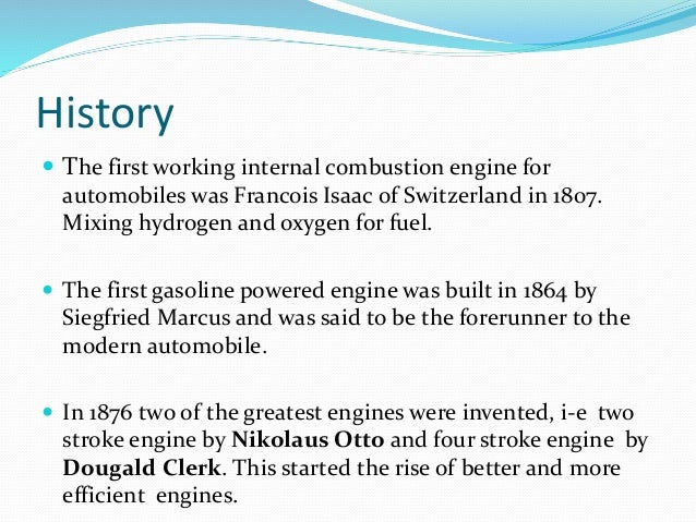 Advantages of internal combustion engines engineering essay