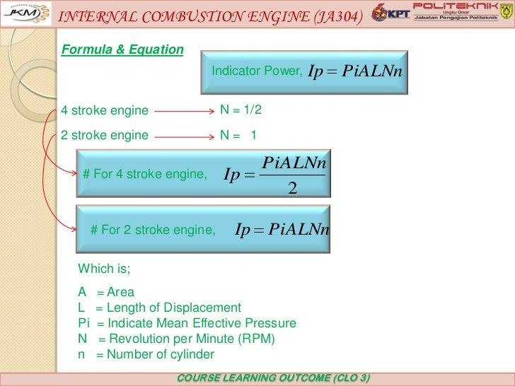 Internal Combustion Engine  Ja304  Chapter 4