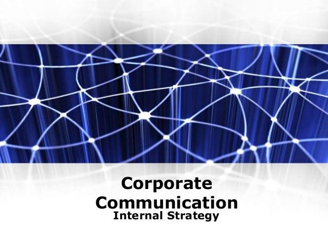 Corporate Communication Internal Strategy