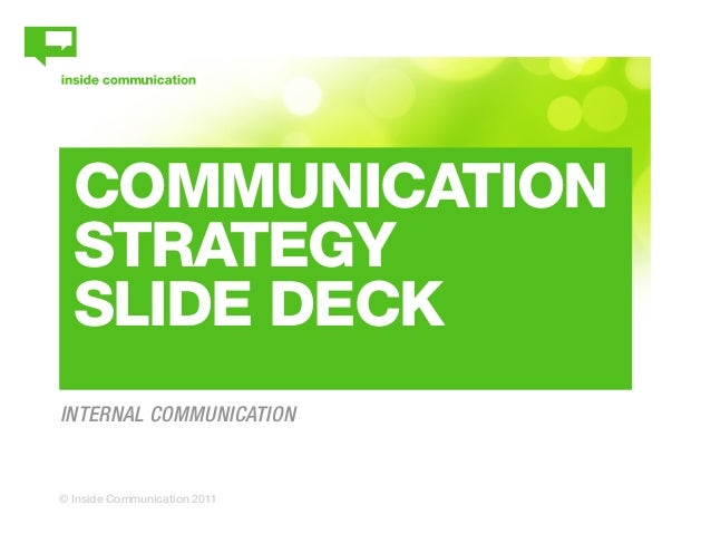 Internal Communication Strategy Slide Deck – Communication Strategy