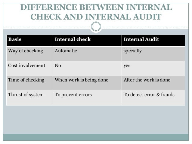 internal check in auditing