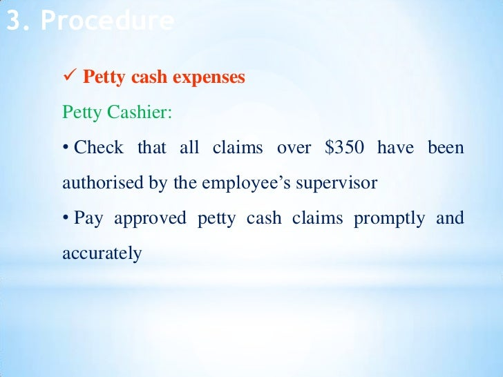 Internal Control For Petty Cashnew