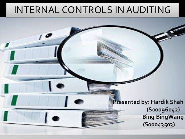 internal control in accounting system Internal accounting controls govern your financial system management is responsible for developing and maintaining effective internal control, reports the us whitehouse office of.