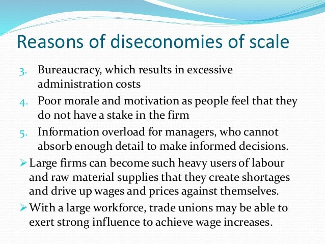 internal diseconomies of scale