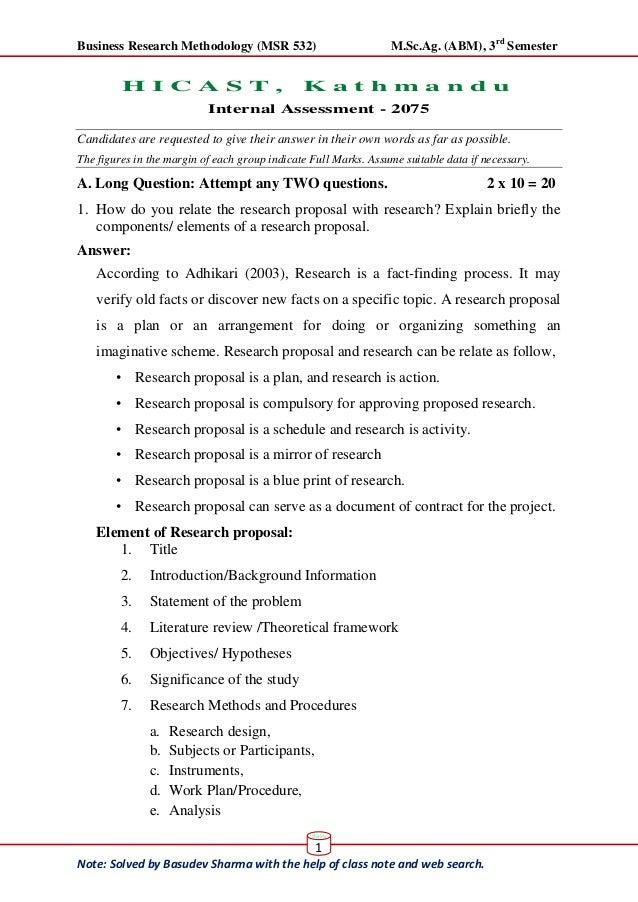 Answer Sheet of Internal exam 2018, Statistics