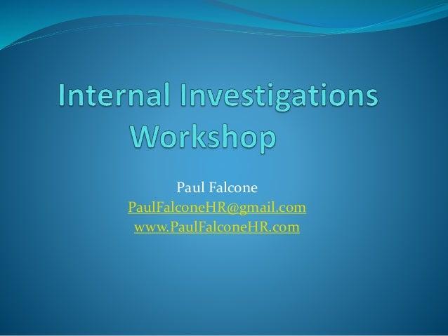 Paul Falcone PaulFalconeHR@gmail.com www.PaulFalconeHR.com