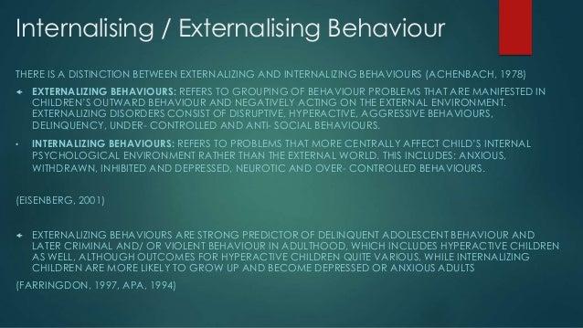 Internalising And Externalizing Behaviours