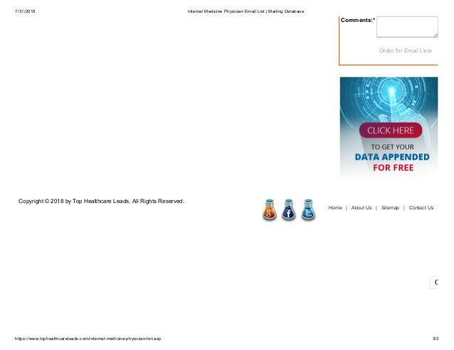 Internal Medicine Physicians Email Database