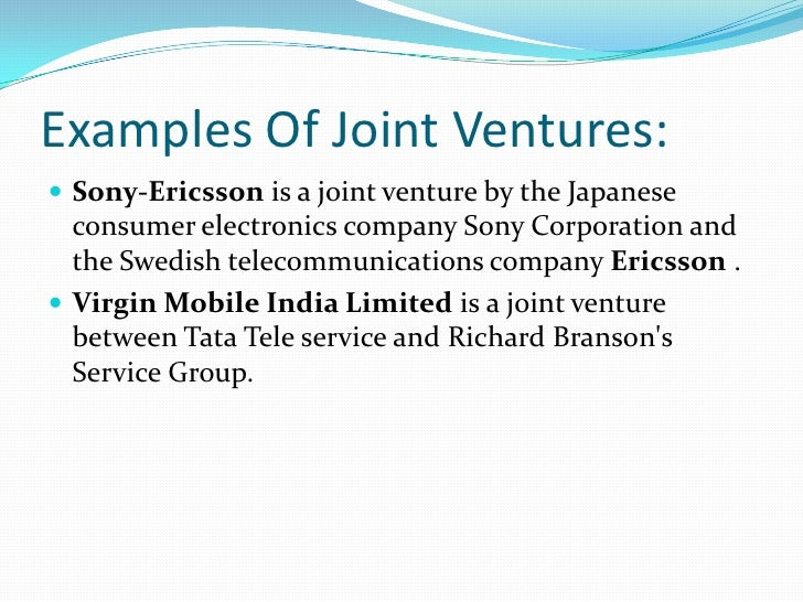 Unsuccessful examples across border joint ventures