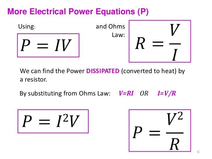 5.2 - Internal Resistance, Power & Combining Resistors  Voltage