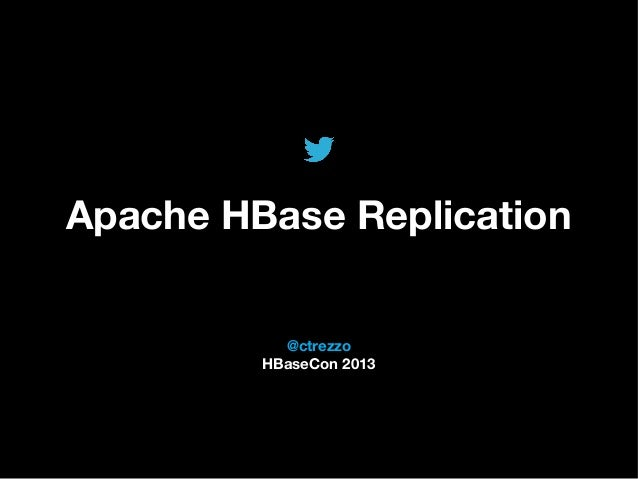 @TwitterAds | Confidential @ctrezzo HBaseCon 2013 Apache HBase Replication