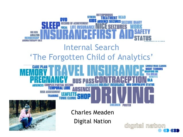 Internal Search 'The Forgotten Child of Analytics' Charles Meaden Digital Nation