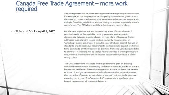 Internal Provincial Trade Barriers Canada April 2017