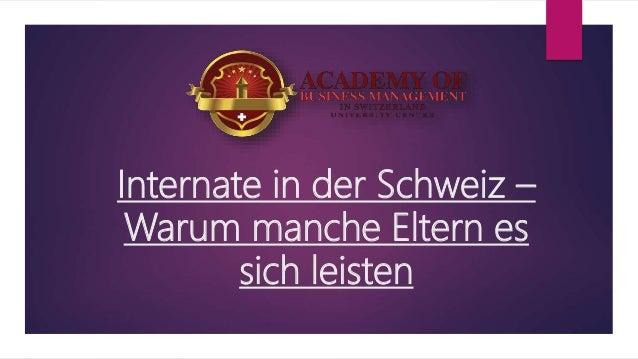 internate schweiz