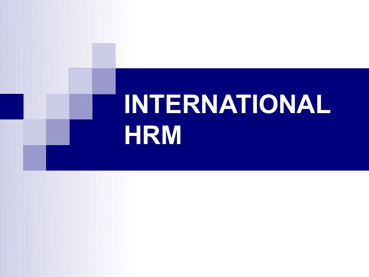 INTERNATIONALHRM