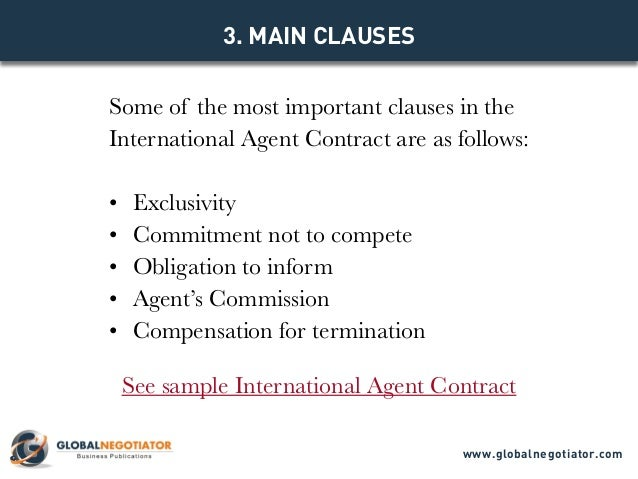International Agent Contract  Contract Template And Sample