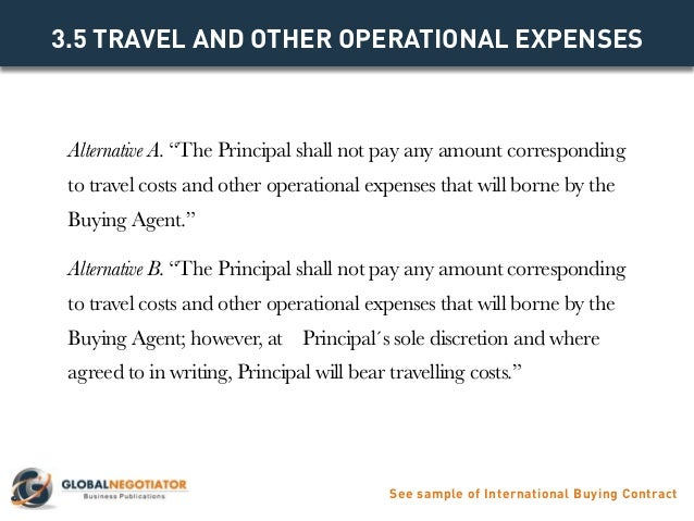 International Buying Agent Contract Contract Template And