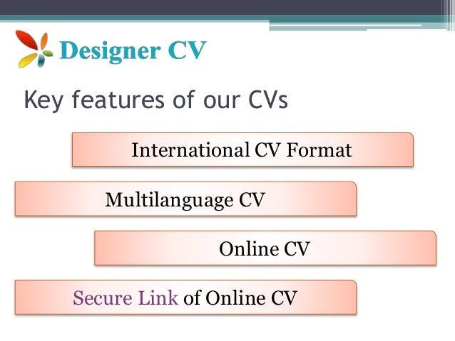 International cv-format