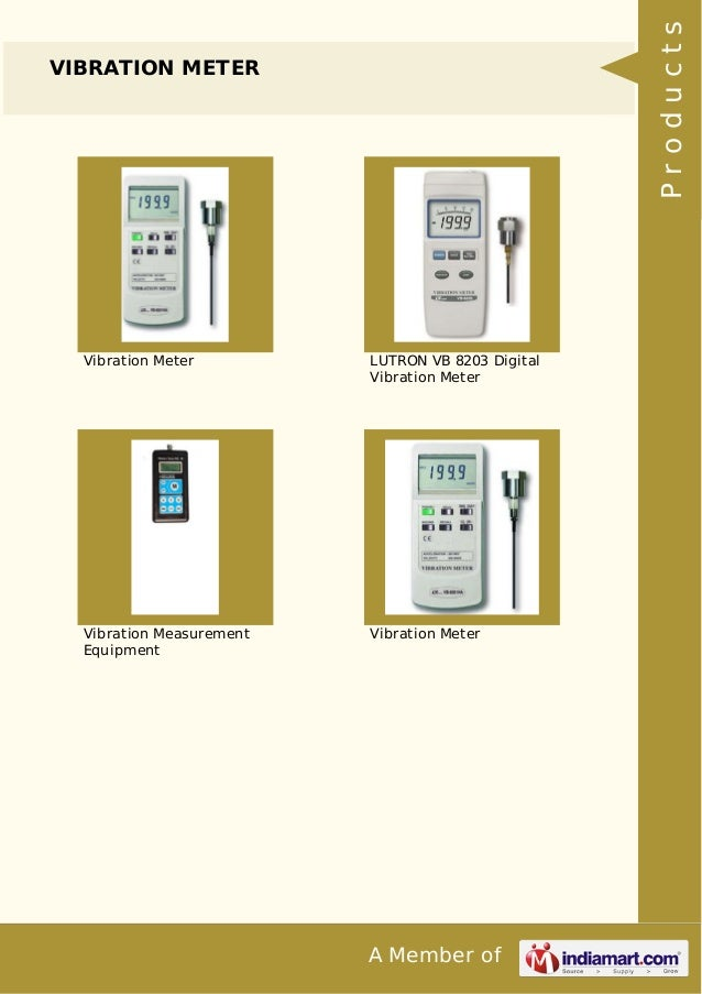 c439c8be ... Products DIGITAL MULTIMETER; 5. Products VIBRATION METER Vibration  Meter LUTRON VB 8203 ...
