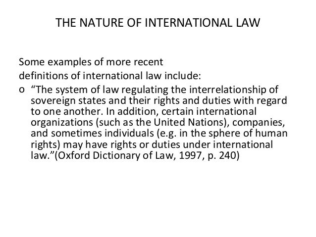 an analysis of international laws in sovereign states and other entities Put in another way, a sovereign state is exempt from the jurisdiction of  bases of  state immunity and then conducts a detailed analysis of such.