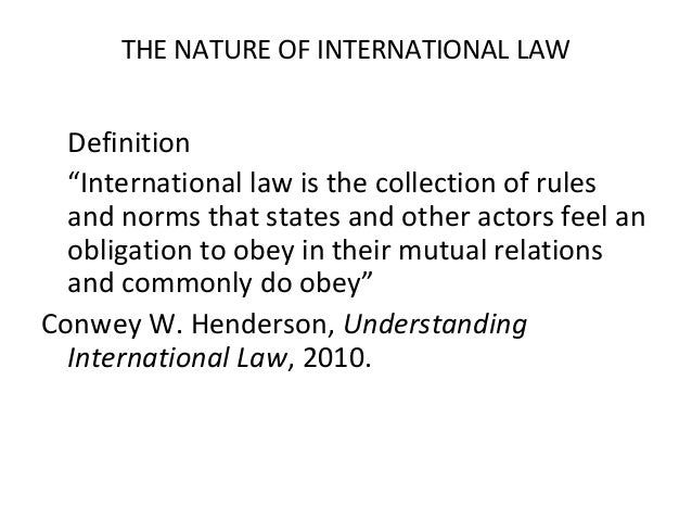 International law-int