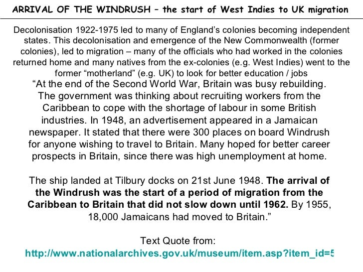 International migration west indies to the uk for Case in stile british west indies