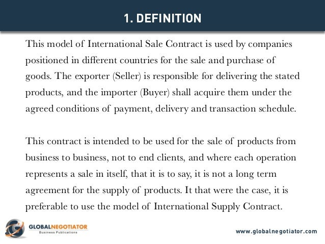 Model Contract Www.globalnegotiator.com; 2.  Business Sale Contract Template