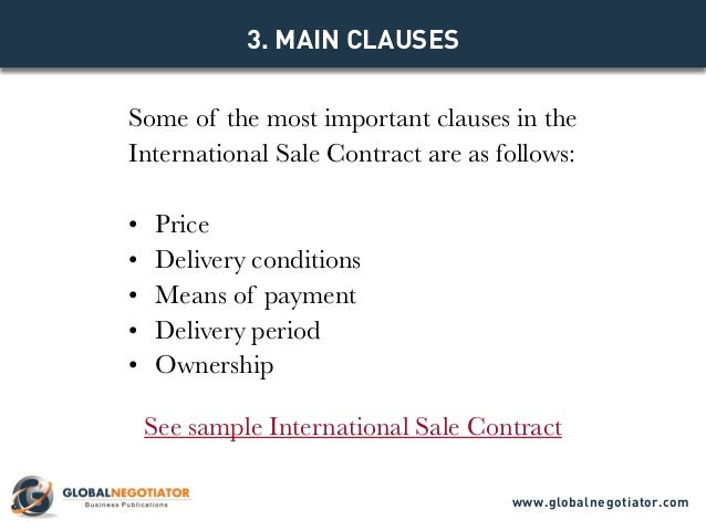 INTERNATIONAL SALE CONTRACT Contract Template and Sample – Sales Contract Sample