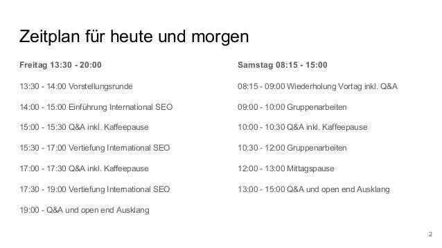 Lehrveranstaltung International SEO - Zertifikatslehrgang Suchmaschinenmarketing 2018 @ FH Salzburg Slide 2