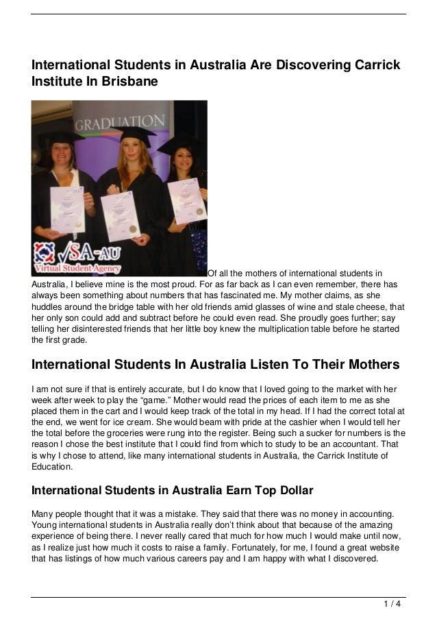 International Students in Australia Are Discovering CarrickInstitute In Brisbane                                          ...