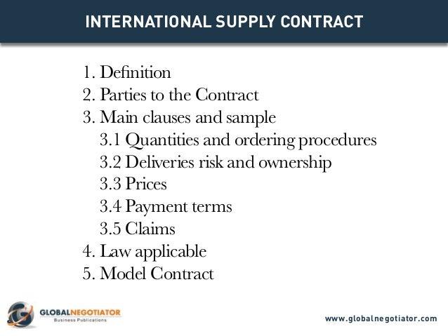Supply Contract Templates Sales Negotiation Training Negotiating