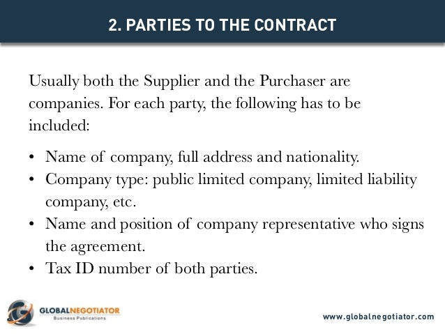INTERNATIONAL SUPPLY CONTRACT Contract Template and Sample – Sample Supply Agreement