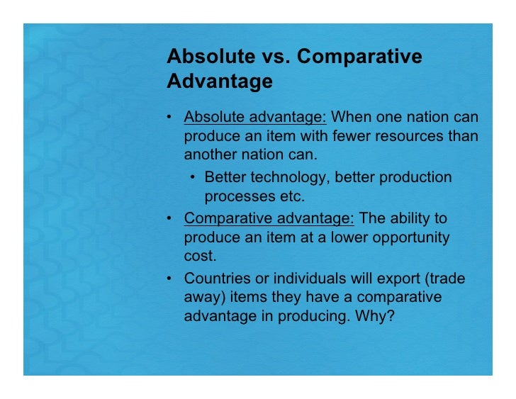 relationship between comparative advantage and absolute